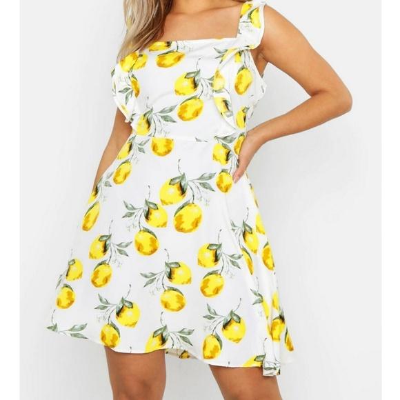 Lemon and white dress